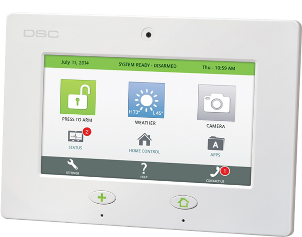 security system touch panel